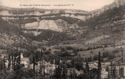 Saint-Jean-et-Saint-Paul (Aveyron) CPA Saint-Paul-des-Fonts  en 1913