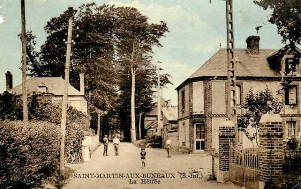 Saint-Martin-aux-Buneaux (Seine Maritime) Café CPA