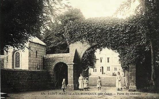 Saint-Martin-aux-Buneaux (Seine Maritime) Château, entrée CPA