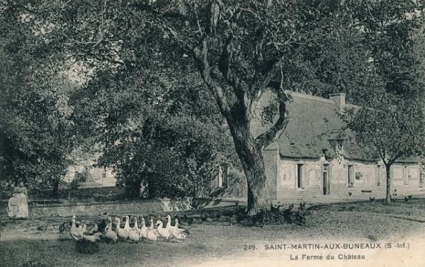 Saint-Martin-aux-Buneaux (Seine Maritime) Château, la ferme CPA