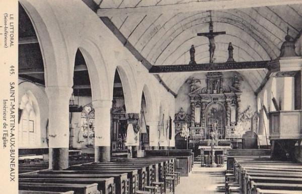Saint-Martin-aux-Buneaux (Seine Maritime) Eglise Saint Martin CPA