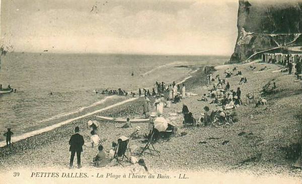 Les Petites Dalles, la plage CPA