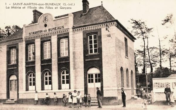 Saint-Martin-aux-Buneaux (Seine Maritime) Mairie-école CPA