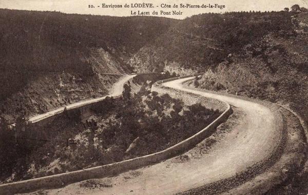 Saint-Pierre-de-la-Fage (Hérault) Le lacet du pont noir CPA