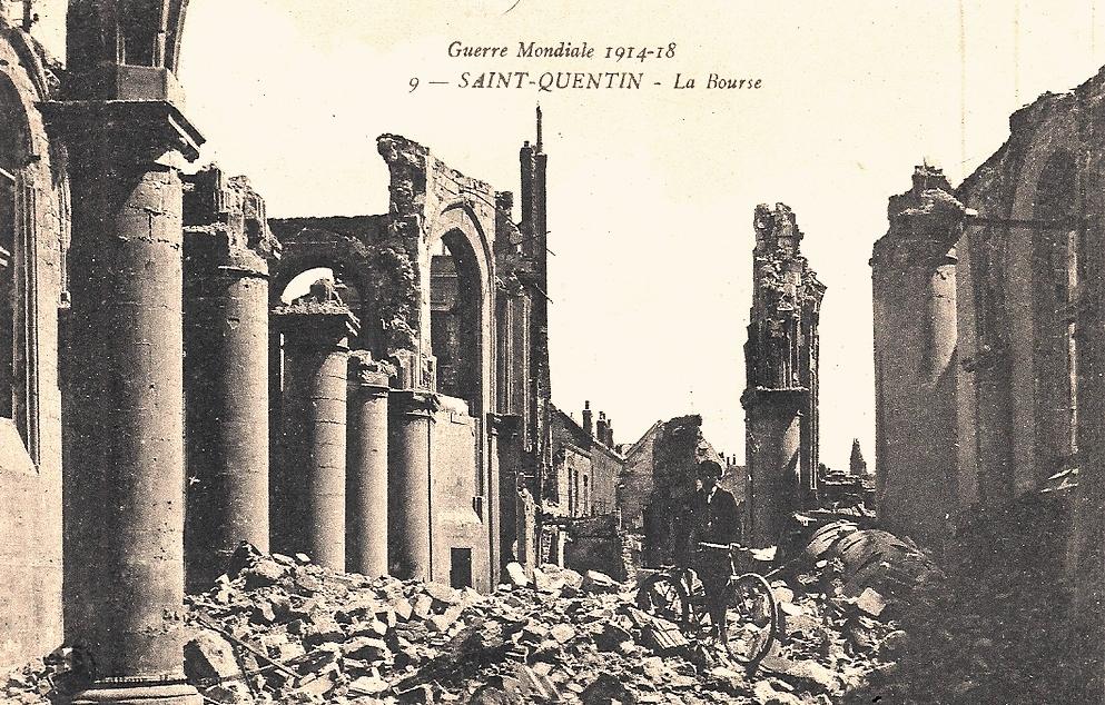 Saint-Quentin (Aisne) CPA 1914, la Bourse