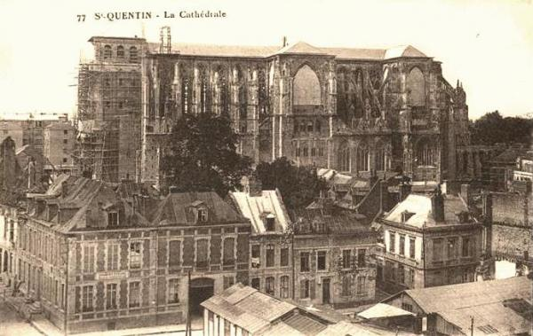 Saint-Quentin (Aisne) CPA 1914, la cathédrale
