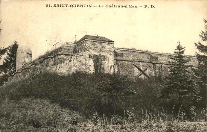 Saint-Quentin (Aisne) CPA 1914, le Château d'eau