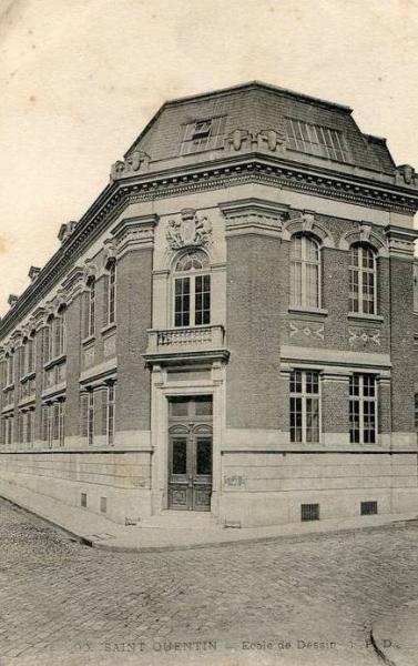 Saint-Quentin (Aisne) CPA l'école de dessin
