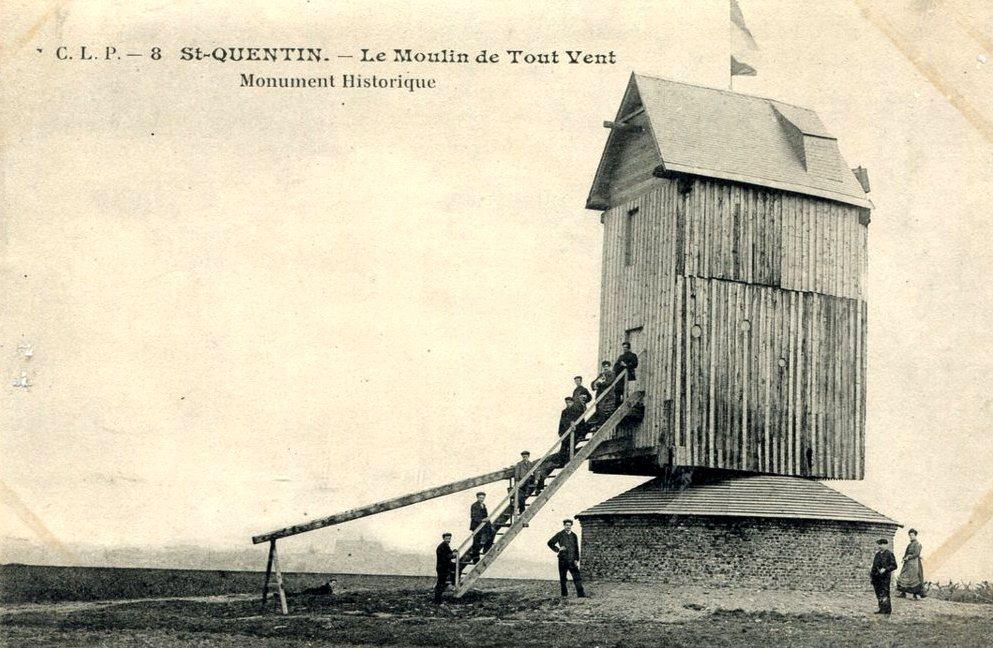 Saint-Quentin (Aisne) CPA le moulin de Touvent