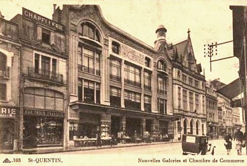 Saint-Quentin (Aisne) CPA les Nouvelles Galeries
