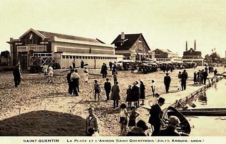 Saint-Quentin (Aisne) CPA la plage