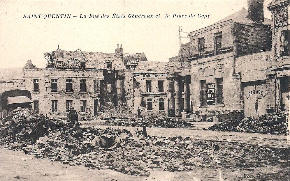 Saint-Quentin (Aisne) CPA la rue des états généraux
