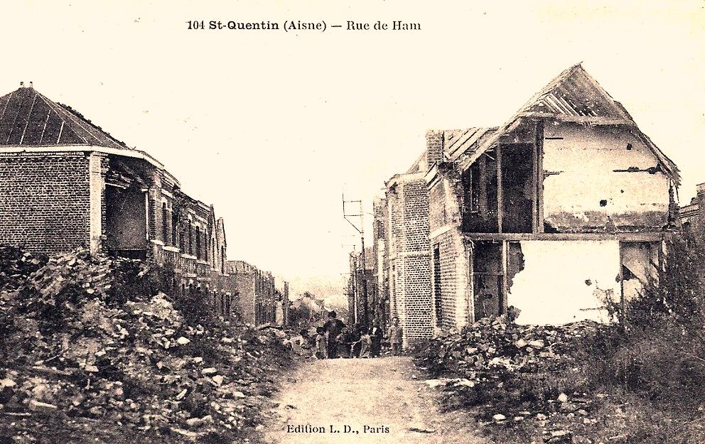 Saint-Quentin (Aisne) CPA 1914, la rue du Ham