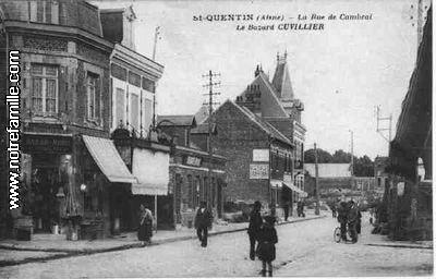 Saint Quentin (Aisne) CPA la rue de Cambrai