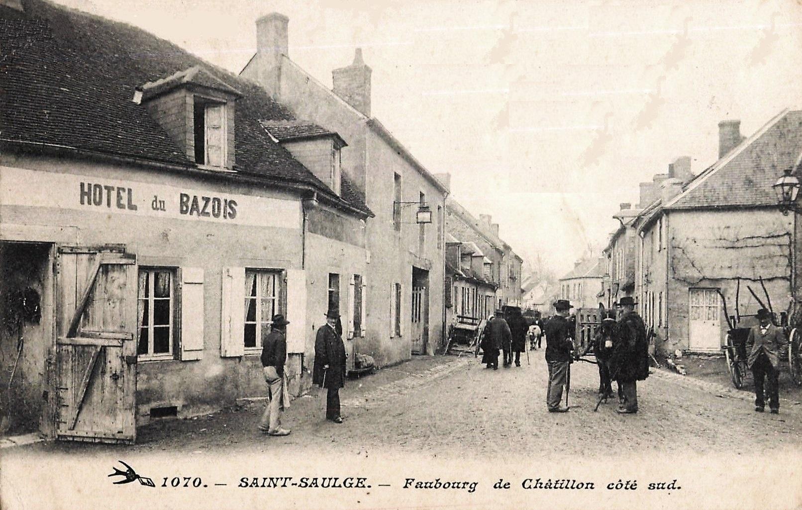 Saint-Saulge (Nièvre) L'Hôtel du Bazois CPA