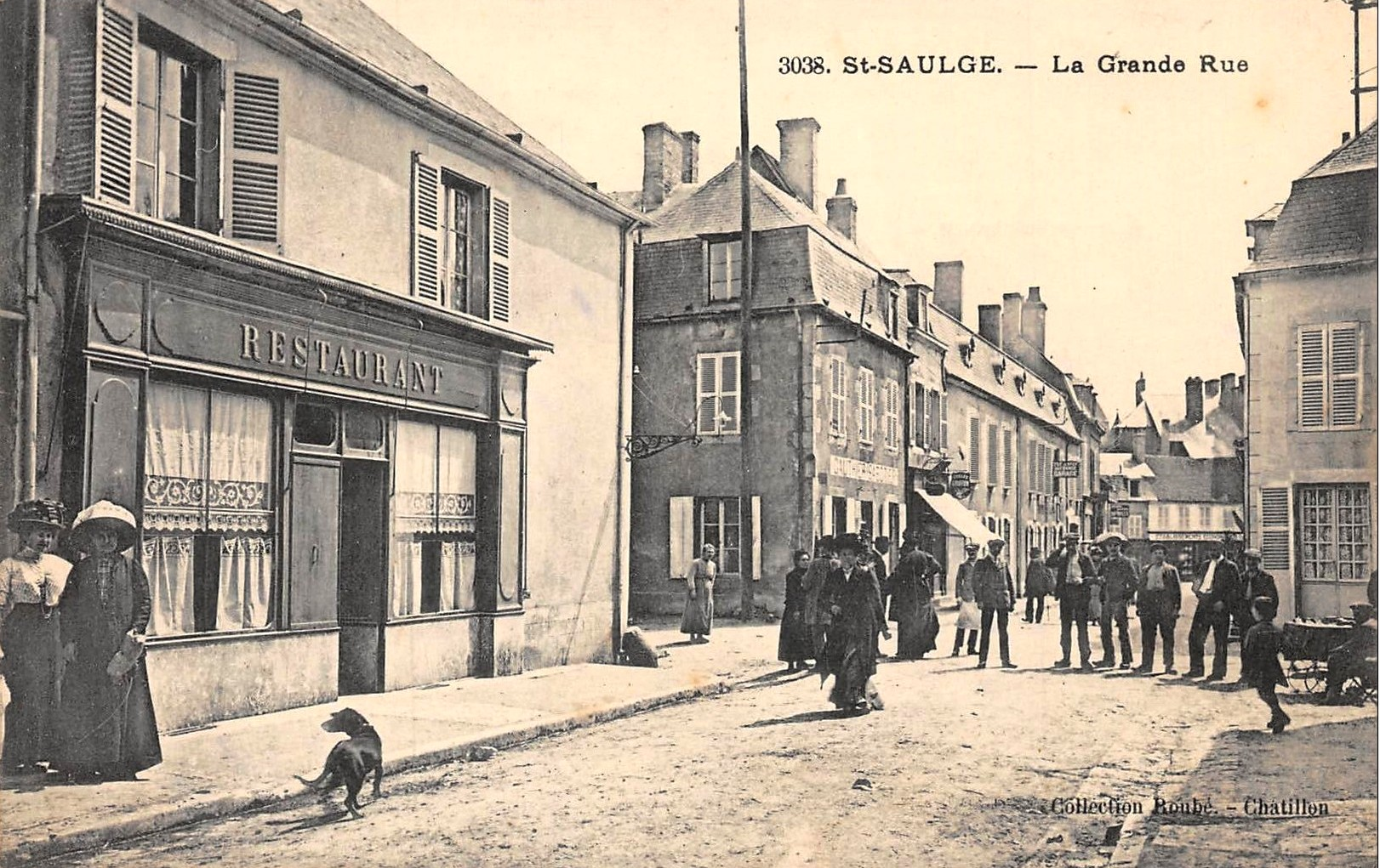 Saint-Saulge (Nièvre) La Grande Rue CPA