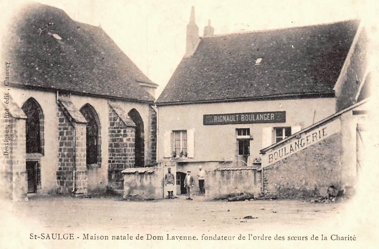 Saint-Saulge (Nièvre) La maison natale de Dom Laveyne CPA