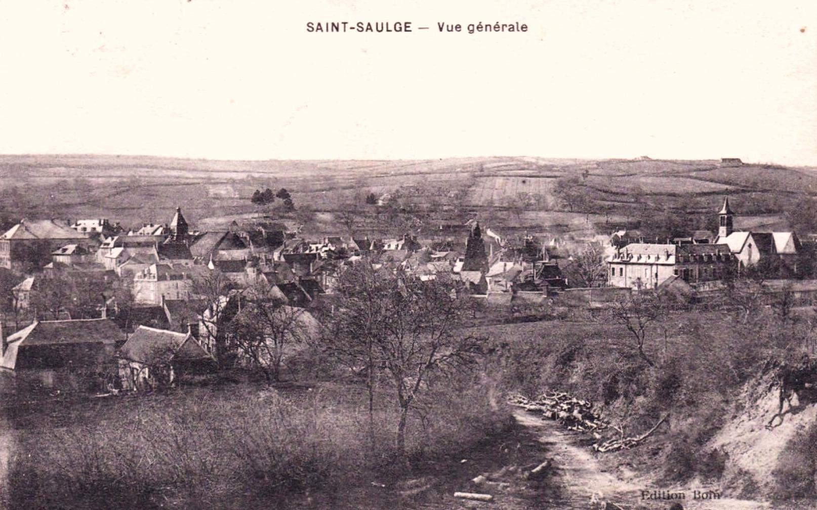 Saint-Saulge (Nièvre) Vue générale CPA