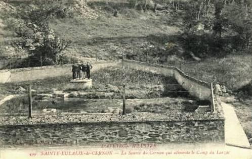 Sainte-Eulalie-de-Cernon (Aveyron) CPA La source du Cernon