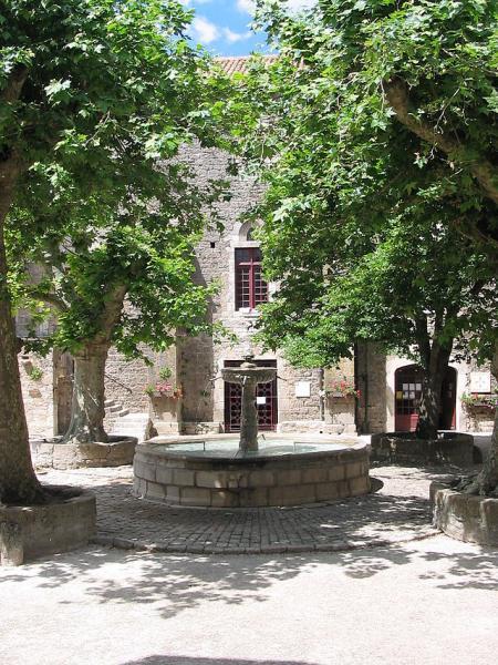 Sainte-Eulalie-de-Cernon (Aveyron) La place de la Fontaine