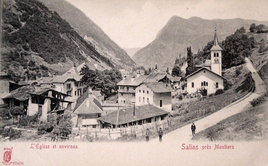 Salins-Fontaine (Savoie) Le village CPA