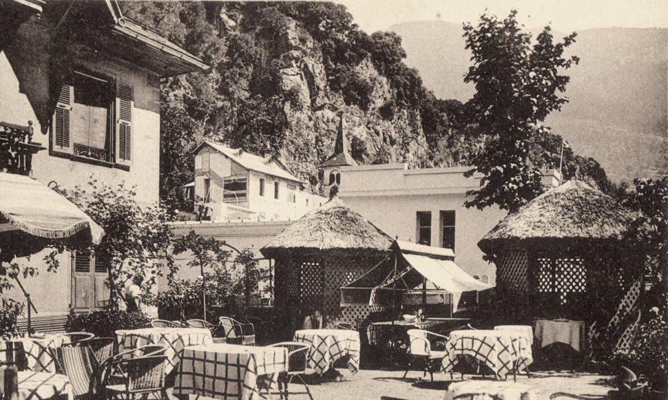 Salins-Fontaine (Savoie) L'hôtel Savoie, le jardin CPA