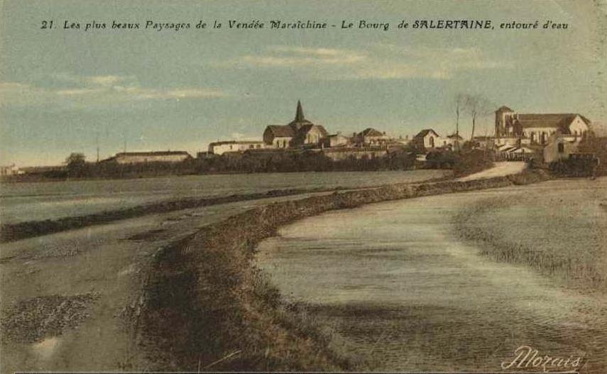 Sallertaine (Vendée) Vue générale CPA