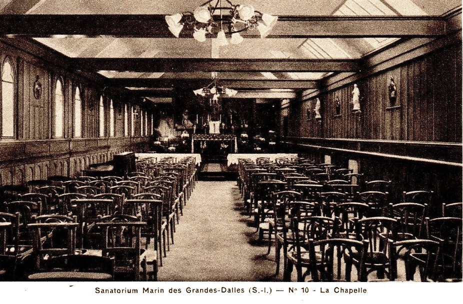 Les Grandes-Dalles, la chapelle du sanatorium marin CPA