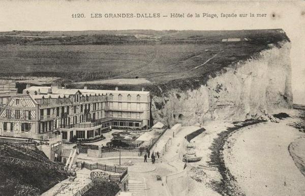 Les Grandes-Dalles, l'Hôtel de la Plage CPA