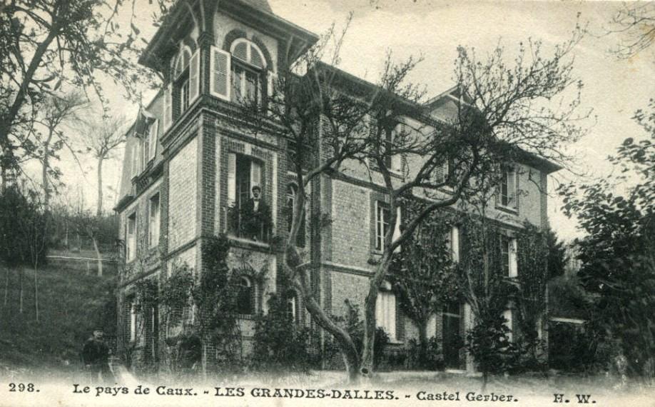 Les Grandes-Dalles, le pensionnat castel Gerber CPA