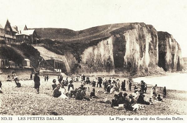 Les Petites-Dalles, la plage CPA