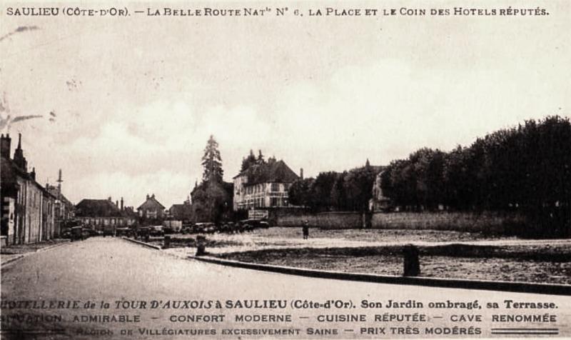Saulieu (Côte d'Or) L'Hôtel de la tour d'Auxois CPA