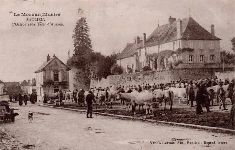 Saulieu (Côte d'Or) La tour de l'Auxois et l'octroi CPA