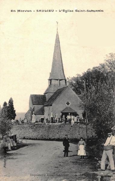 Saulieu (Côte d'Or) Léglise Saint-Saturnin CPA