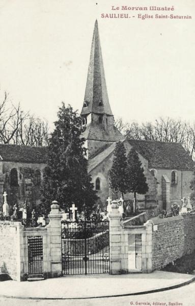 Saulieu (Côte d'Or) L'église Saint-Saturnin CPA