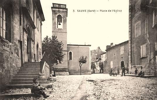 Sauve (Gard) CPA L'église