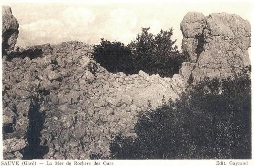 Sauve (Gard) CPA La Mer des Rochers
