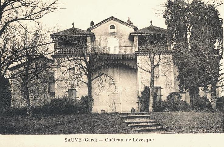 Sauve (Gard) CPA Le château Lévesque