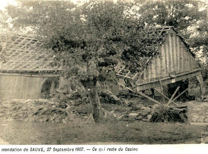 Sauve (Gard) CPA Les inondations de 1907