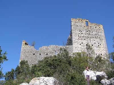 Sauve (Gard) Le château de la Roquette