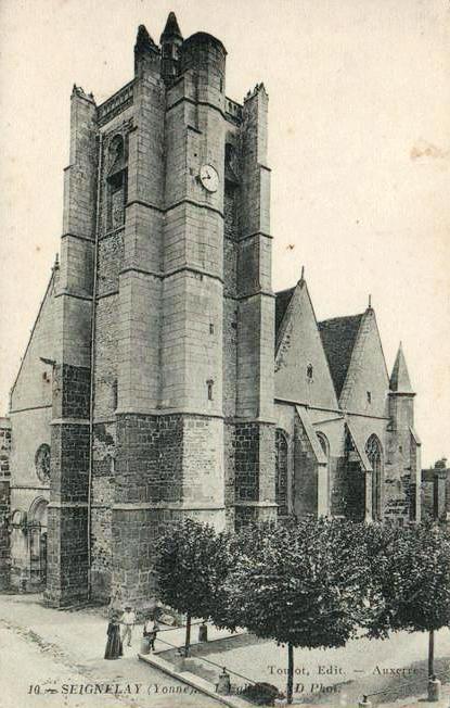Seignelay (89) L'église CPA