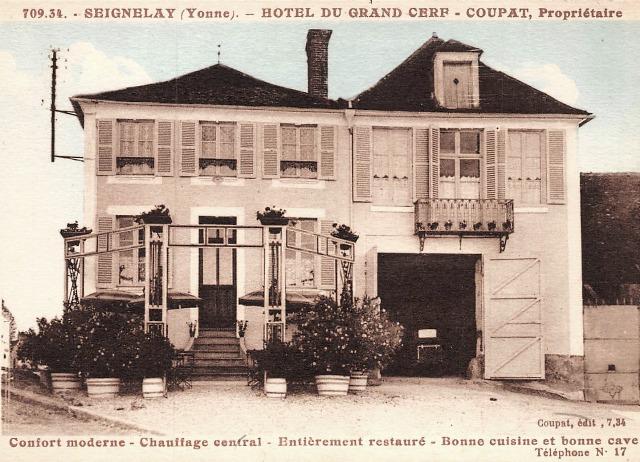 Seignelay (89) L'Hôtel du Grand Cerf CPA