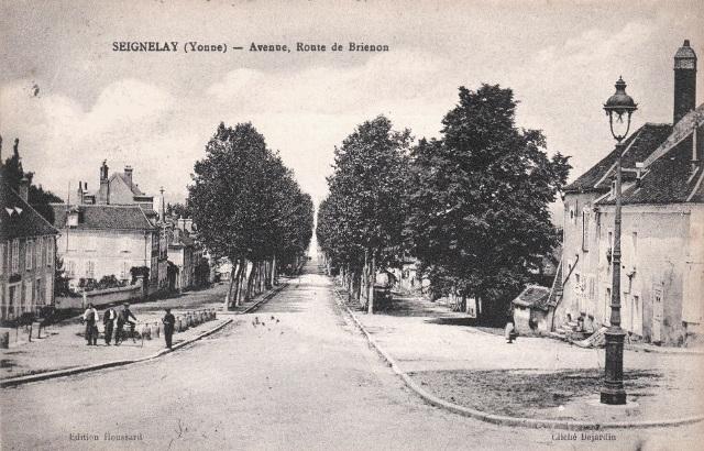 Seignelay (89) La route de Brienon CPA