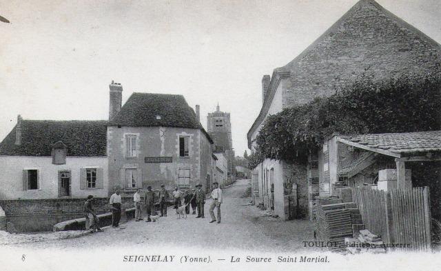 Seignelay (89) La source Saint Martial CPA