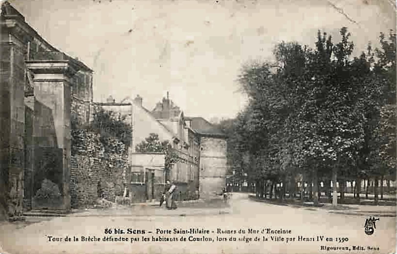Sens (89) La porte Saint-Hilaire CPA