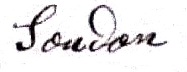 Soudan Félix Antoine (1852/1927), sa signature en 1891