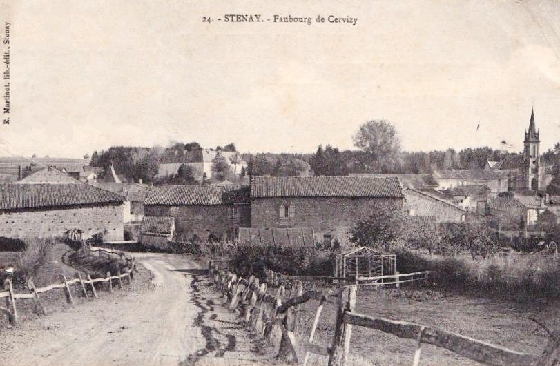 Stenay (Meuse) Cervisy, la maison à gauche CPA