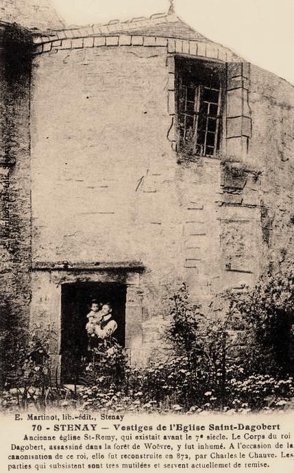 Stenay (Meuse) Les vestiges de l'église Saint-Dagobert CPA
