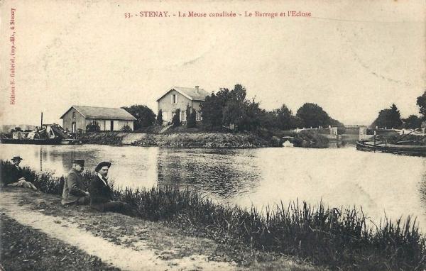 Stenay (Meuse) La Meuse et le canal CPA