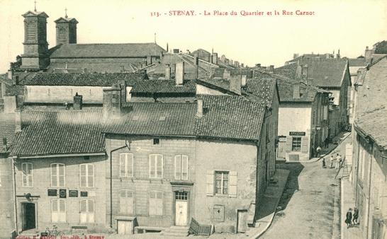Stenay (Meuse) La rue Carnot CPA